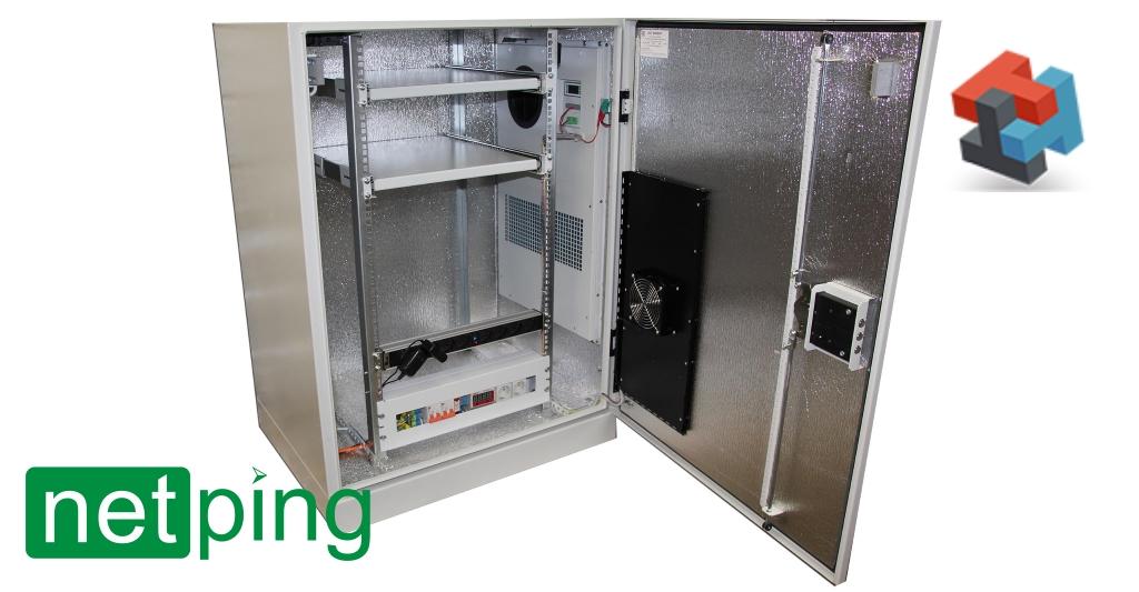 Антивандальный термошкаф Амадон с мониторингом и управлением на базе UniPing v3