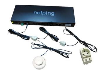 Подключение 1-wire датчиков через сплиттеры и удлинители к устройствам NetPing