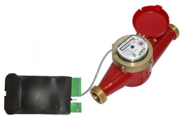 Наглядная схема подключения счётчика воды с импульсным выходом к устройству NetPing