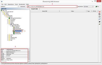 Просмотр описания OID в Ireasoning MIB browser