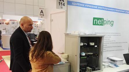 Стенд NetPing с оборудованием мониторинга параметров микроклимата серверных комнат и удаленного управления электропитанием