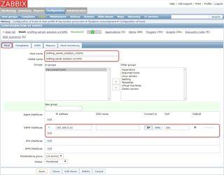 Добавление устройства NetPing в Zabbix