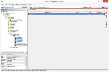 Просмотр результатов в Ireasoning MIB browser от устройства NetPing
