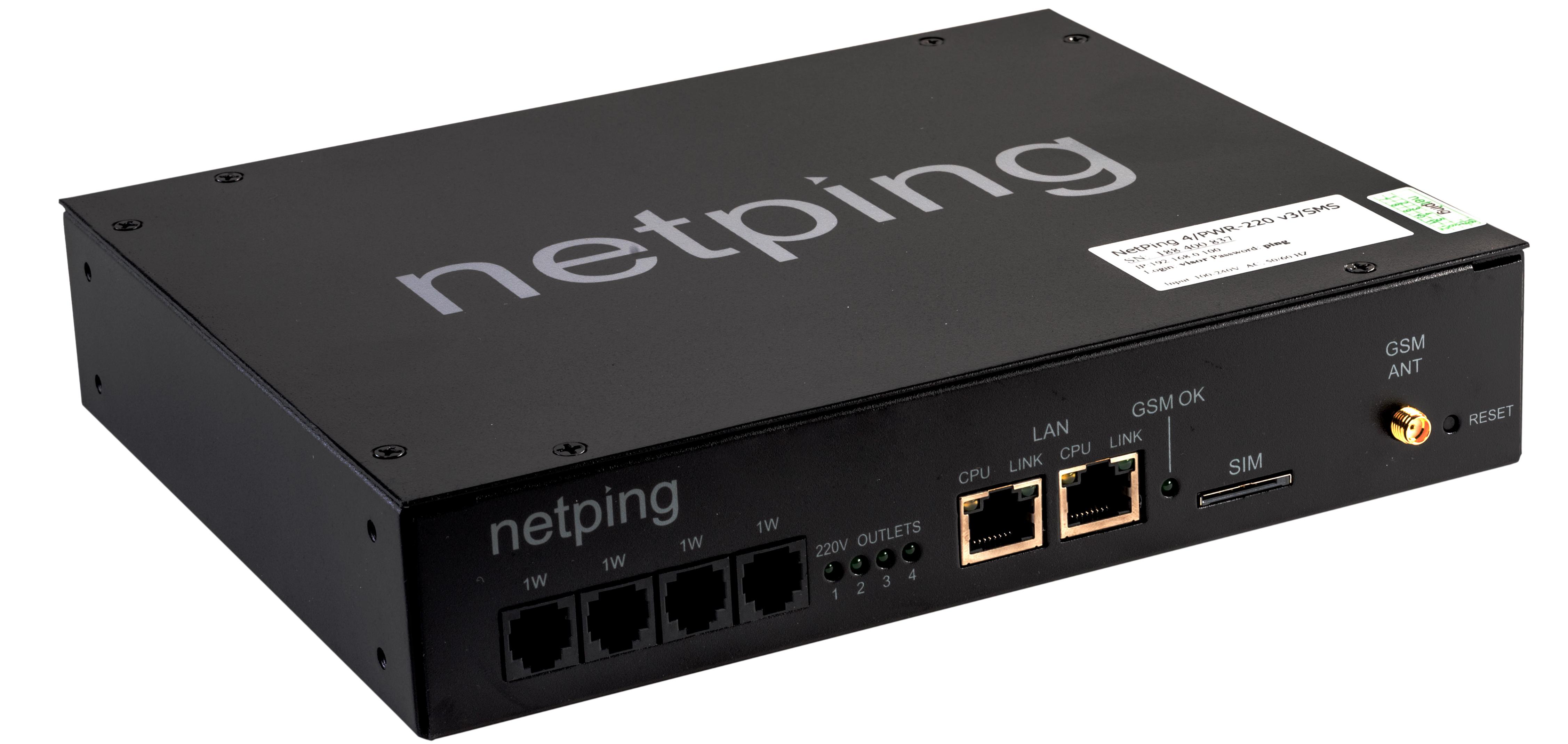 Устройство удалённого управления электропитанием NetPing 4PWR-220 v3SMS
