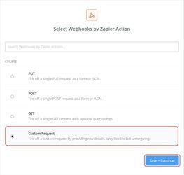 Custom Request by Zapier