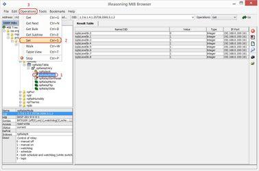 Управление реле устройства NetPing из ПО Ireasoning MIB browser