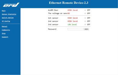 SNR-ERD-2.3 - Настройка работы датчиков