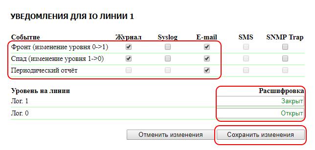 NetPing IO v2 уведомления для IO линии 1