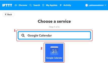 Выбор Google календаря