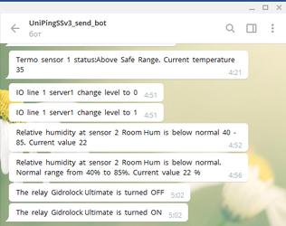 Получение в Telegram информации от датчиков, подключенных к устройствам мониторинга и удалённого управления электропитанием NetPing