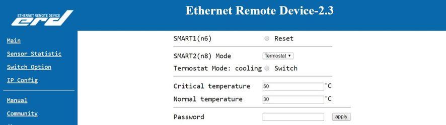 SNR-ERD-2.3 - настройка термостата