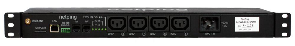 Устройство NetPing 8PWR-220 v3SMS