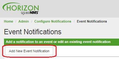 OpenNMS добавление события для оповещения