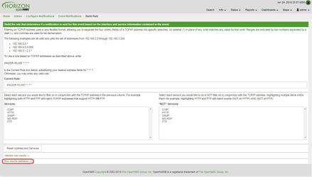 OpenNMS фильтр нод для оповещения о приеме SNMP Trap IO линии