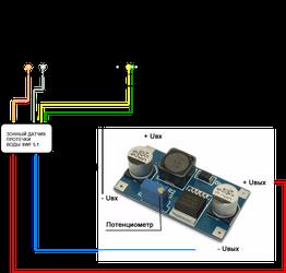 Подключение зонного датчика протечки воды SWF5.1 к NetPing