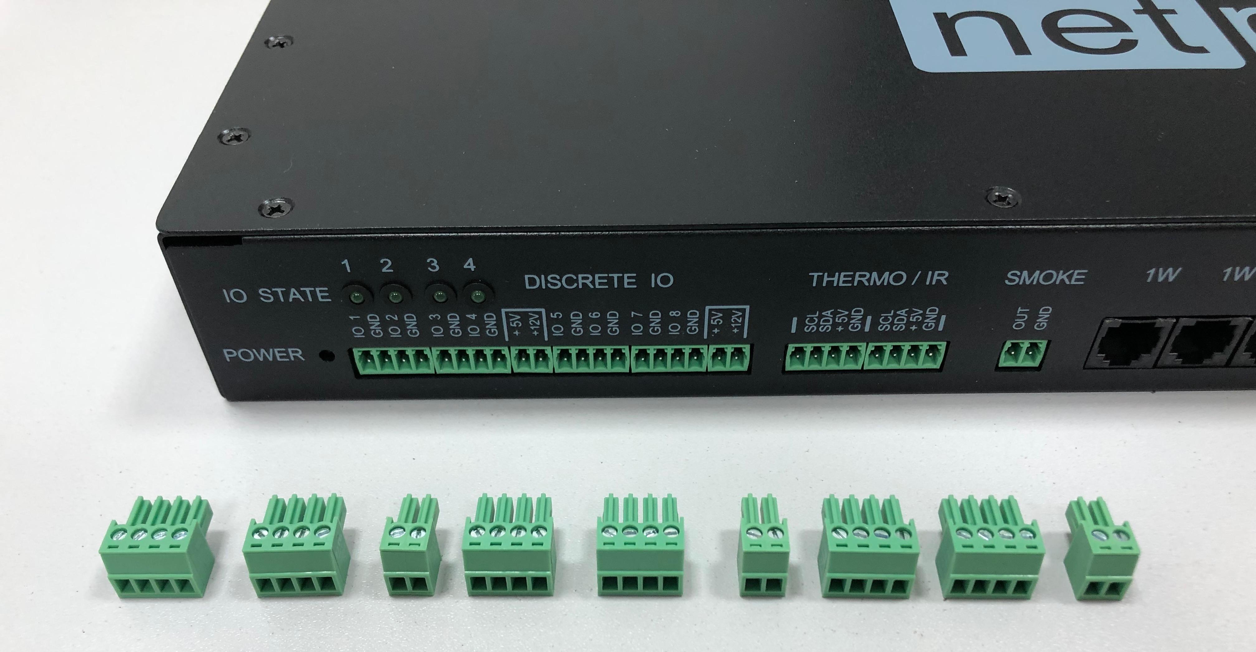UniPing server solution v3SMS клеммные соединители для датчиков