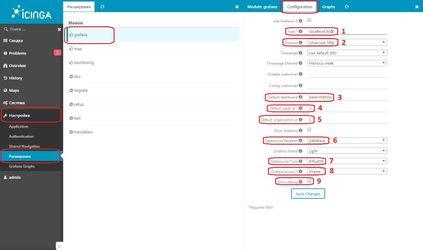 Настройка Icinga Web 2 module Grafana