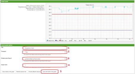 OpenNMS завершение добавления графика в отчет по NetPing