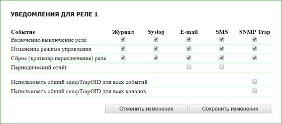 NetPing настройки уведомлений от реле