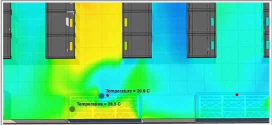 Пример неправильно расположенного датчика температуры