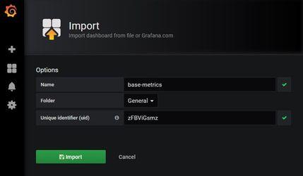 Grafana импорт Dashboard