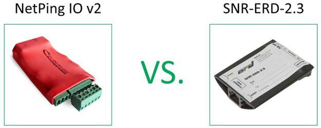 Чем NetPing IO v2 отличается от SNR-ERD-2.3