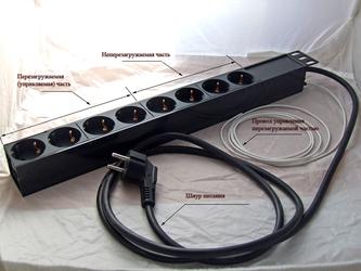 Блок розеток SNR-PDU-08S-1