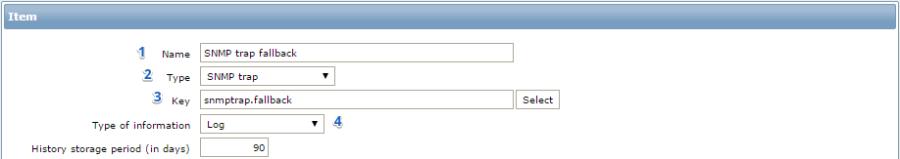 Заполнение параметров для нового объекта в Zabbix