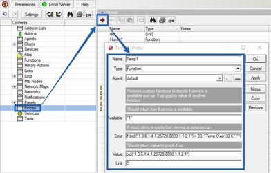 The Dude - добавление нового датчика от устройства UniPing server solution v3SMS