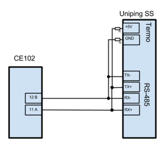 Схема подключения счетчика Энергомера к UniPing server solution