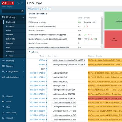 NetPing Zabbix server (Software)