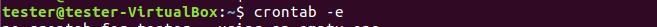 Ubuntu Запуск Crontab