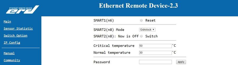 SNR-ERD-2.3 - настройка Gidrolock