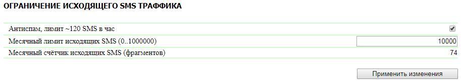 NetPing SMS ограничения на SMS