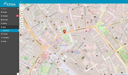 Icinga world map
