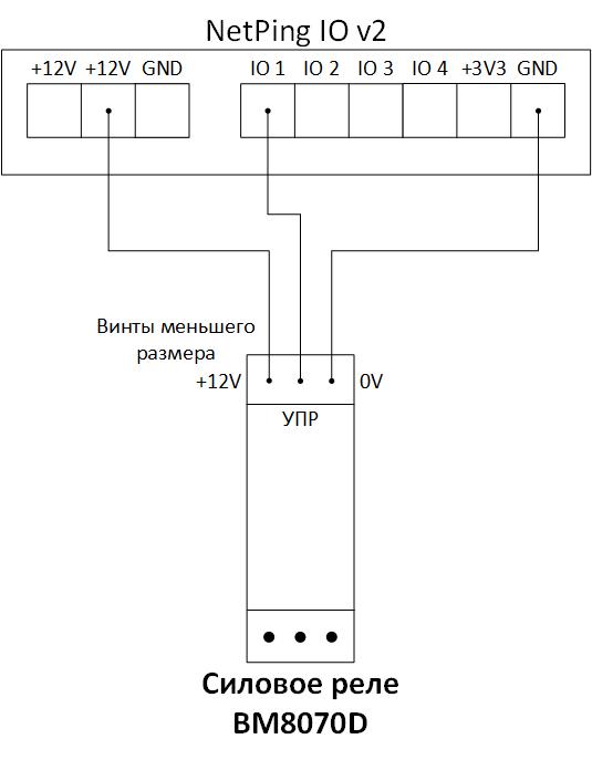 Подключение BM8070D к NetPing IO v2