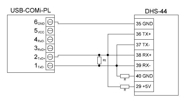 UniPing v3 DHS-44 USB-RS485