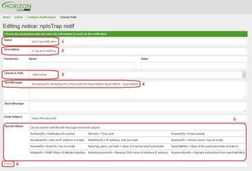 OpenNMS детали оповещения о SNMP Trap IO линии