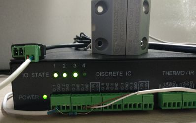 UniPing server solution v3SMS и SNR-CI-DB30I тестирование с датчиком двери