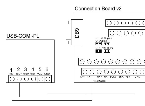 UniPing v3 Connection board v2 USB-RS485