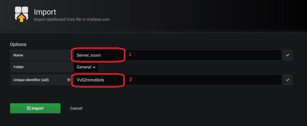 Grafana import NetPing Dashboard