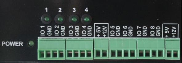 Клеммы подключения IO линий к UniPing server solution v3