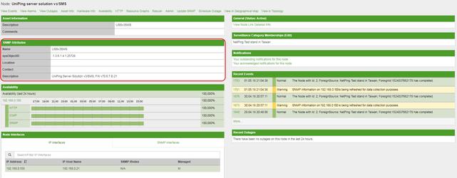 OpenNMS интерфейс ноды NetPing