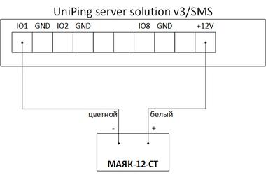 Схема подключения МАЯК-12-СТ