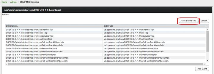 OpenNMS сохранение событий для NetPing